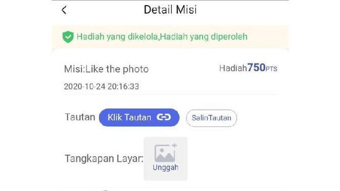 Aplikasi LIKE App. Dok: screenshot dari aplikasi LIKE App