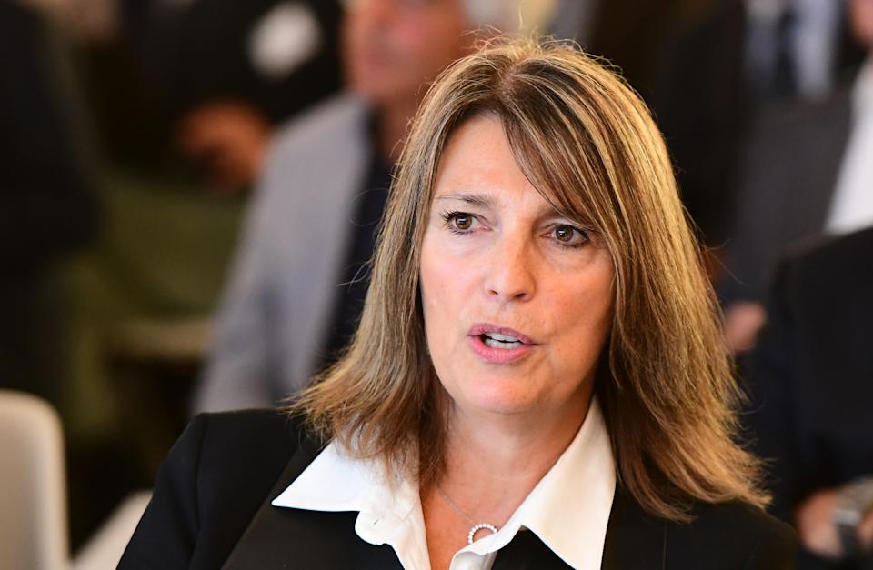 EasyJet CEO Carolyn McCall attendsCarolyn McCall, chief executive of ITV, is one of the highest-profile female executives in Britain. Photo: Emmanuel Dunand/AFP/Getty the Airlines for Europe (A4E) Aviation Summit in Brussels, on October 17, 2017.  / AFP PHOTO / EMMANUEL DUNAND        (Photo credit should read EMMANUEL DUNAND/AFP/Getty Images)
