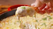 """<p>Your party guests will eat this up in seconds.</p><p>Get the recipe from <a href=""""https://www.delish.com/cooking/recipe-ideas/recipes/a49883/crab-artichoke-dip-recipe/"""" rel=""""nofollow noopener"""" target=""""_blank"""" data-ylk=""""slk:Delish"""" class=""""link rapid-noclick-resp"""">Delish</a>. </p>"""