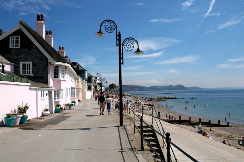 Stroll along the Lyme Regis Promenade. [Photo: Visit Dorset]