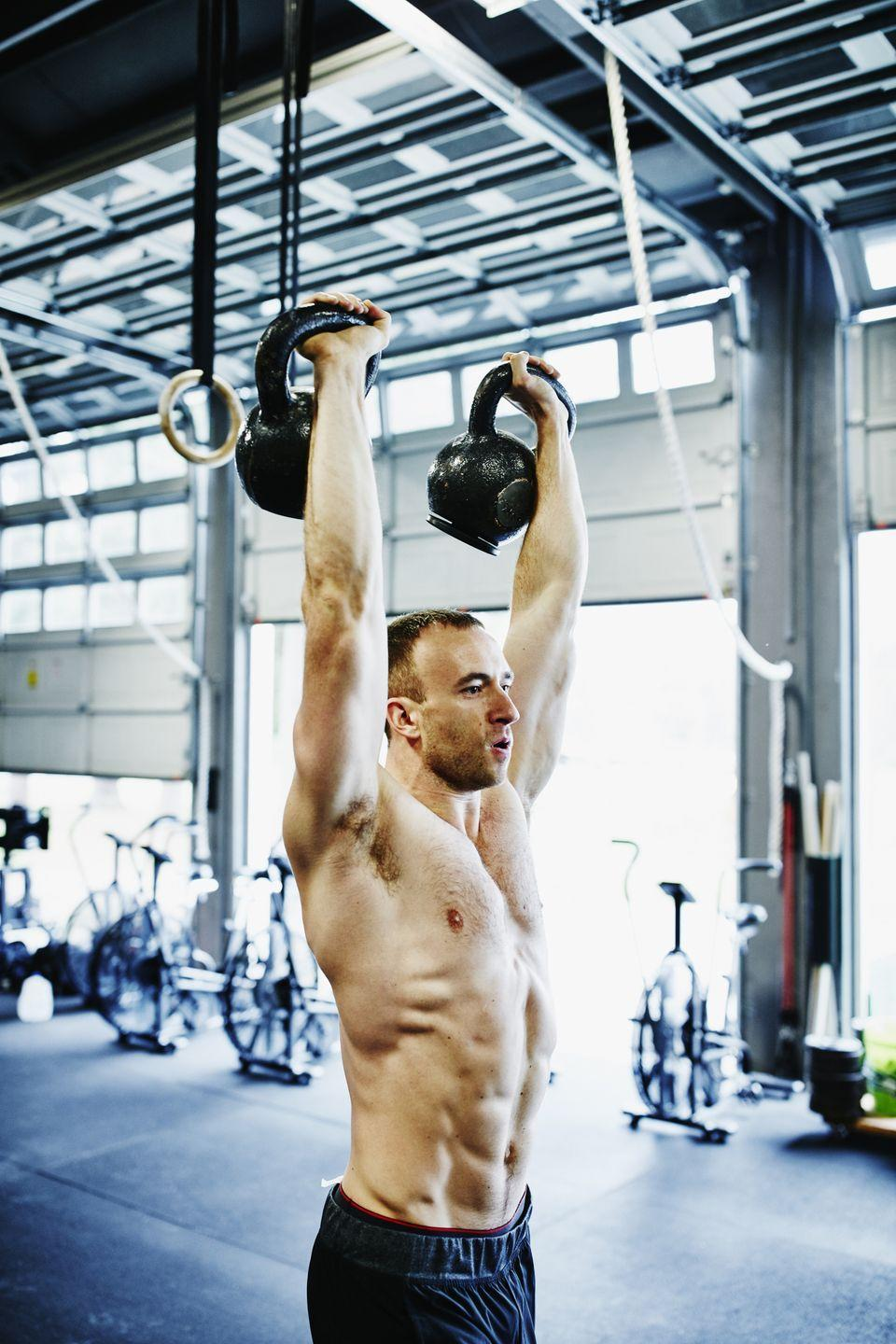 <p>This total body blast will torch your legs as you work through the squat motion of the thruster and the deadlift-like motion that the row calls for. Get ready to break a killer sweat. You can do this workout with either dumbbells or kettlebells in addition to your rower. </p><p>Warm up for five minutes. Then do the following exercises in the order shown.</p><p>- Row, 500 meters, as fast as possible.</p><p>- Dumbbell or kettlebell thruster, 25 reps</p><p>- That's 1 round. Do 4 total rounds, resting as needed between rounds and reps of thrusters. Aim to complete the workout in less than 20 minutes.</p>
