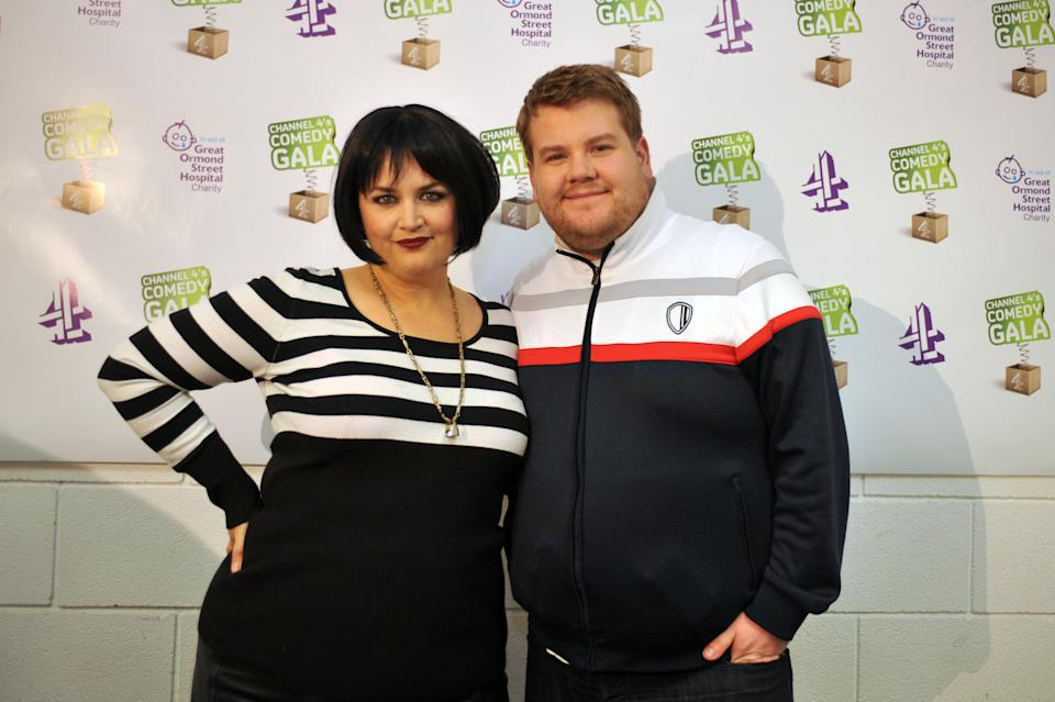 Ruth Jones and James Corden attend the Channel 4 Comedy Gala, in aid of Great Ormond Street Hospital, at the O2 Arena, London.   (Photo by Ian Nicholson/PA Images via Getty Images)