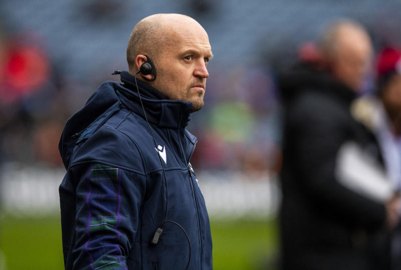 EDINBURGH, SCOTLAND - FEBRUARY 08: Scotland Head Coach Gregor Townsend during the Guinness Six Nations Match between Scotland and England at BT Murrayfield on February 08, 2020 in Edinburgh, Scotland. (Photo by Ross Parker / SNS Group via Getty Images)