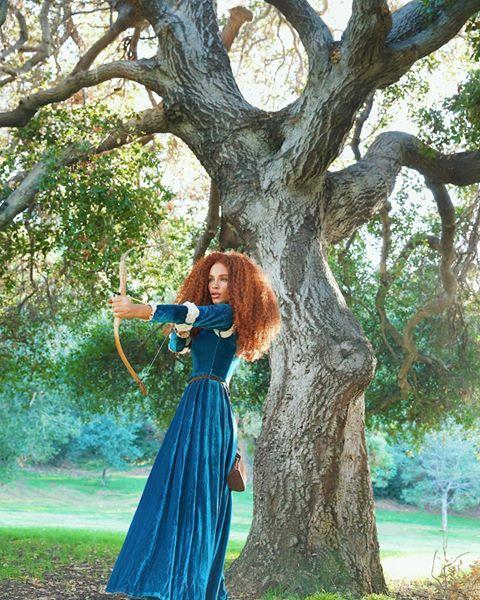 """<p>This long-sleeve velvet gown is straight-up identical to the one Merida wore in the movie, and thankfully, it's warm enough that you don't have to add layers over it.</p><p><a href=""""https://www.instagram.com/p/B4DlxX_h8pZ/?utm_source=ig_embed&utm_campaign=loading"""" rel=""""nofollow noopener"""" target=""""_blank"""" data-ylk=""""slk:See the original post on Instagram"""" class=""""link rapid-noclick-resp"""">See the original post on Instagram</a></p>"""