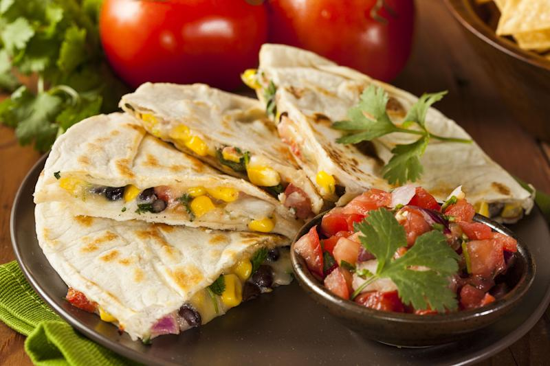 Corn and Olive Quesadillas