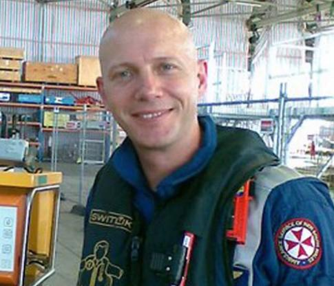 NSW Ambulance paramedic Mick Wilson is pictured.