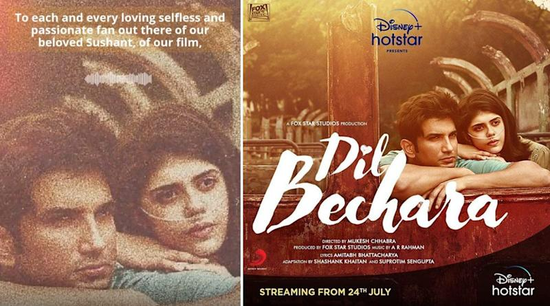 Sushant Singh Rajput's Last Movie Dil Bechara To Premiere On Star Plus On August 9, 2020 After Digital Release on Disney+ Hotstar (Deets Inside)