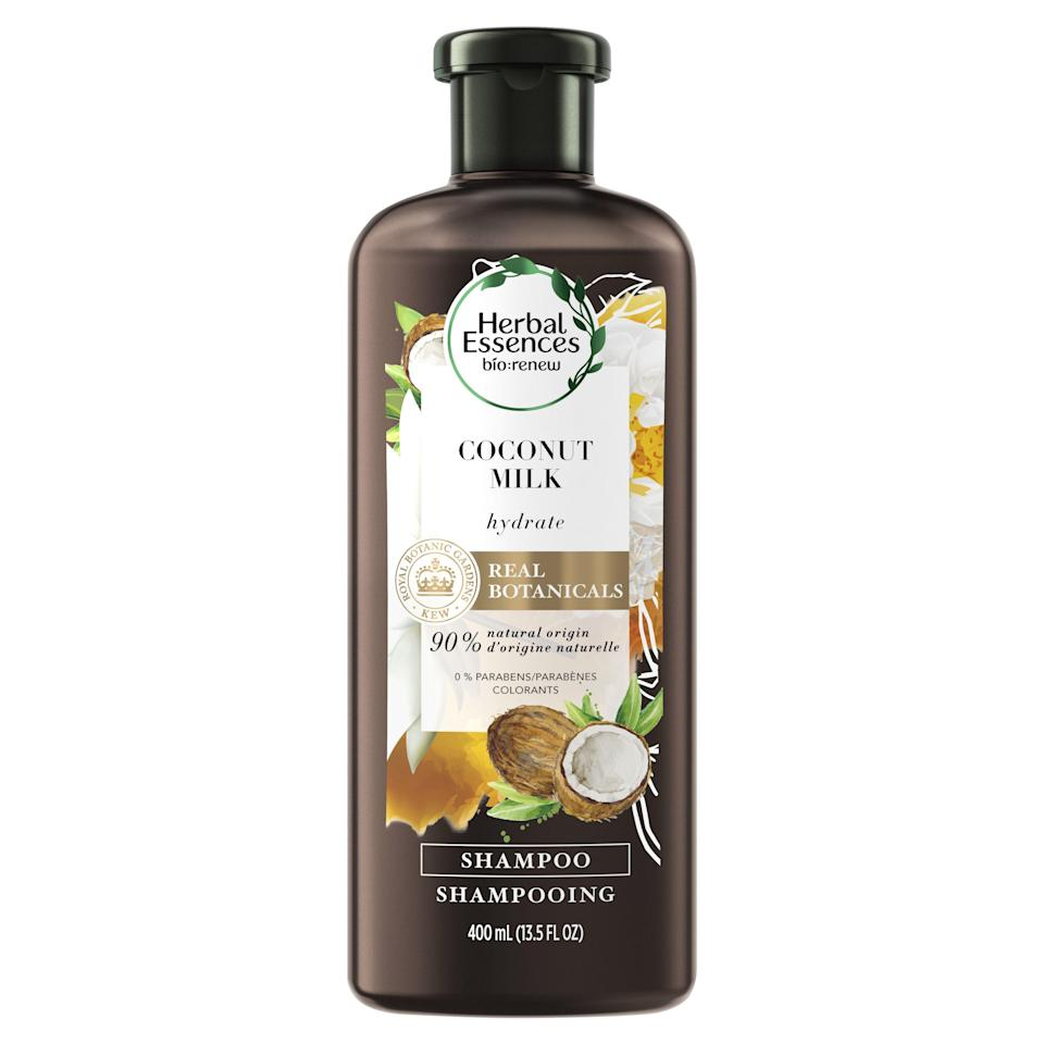 "<p><strong>Herbal Essences</strong></p><p>walmart.com</p><p><strong>$5.97</strong></p><p><a href=""https://go.redirectingat.com?id=74968X1596630&url=https%3A%2F%2Fwww.walmart.com%2Fip%2F165542271&sref=https%3A%2F%2Fwww.goodhousekeeping.com%2Fbeauty%2Fhair%2Fg34838457%2Fbest-natural-hair-products%2F"" rel=""nofollow noopener"" target=""_blank"" data-ylk=""slk:Shop Now"" class=""link rapid-noclick-resp"">Shop Now</a></p><p>Natural hair needs more moisture than other hair types, and this GH Beauty Lab test-winning shampoo (and its matching conditioner) from Herbal Essences provides it. It was a <strong>standout star in the <a href=""https://www.goodhousekeeping.com/beauty-products/g26241901/best-shampoo-for-dry-hair/"" rel=""nofollow noopener"" target=""_blank"" data-ylk=""slk:GH Beauty Lab's moisturizing shampoos test"" class=""link rapid-noclick-resp"">GH Beauty Lab's moisturizing shampoos test</a></strong>, where testers raved about how hydrating this wallet-friendly formula made their previously <a href=""https://www.goodhousekeeping.com/beauty/hair/g29627145/diy-hair-masks/"" rel=""nofollow noopener"" target=""_blank"" data-ylk=""slk:dry hair"" class=""link rapid-noclick-resp"">dry hair</a> look and feel. </p>"