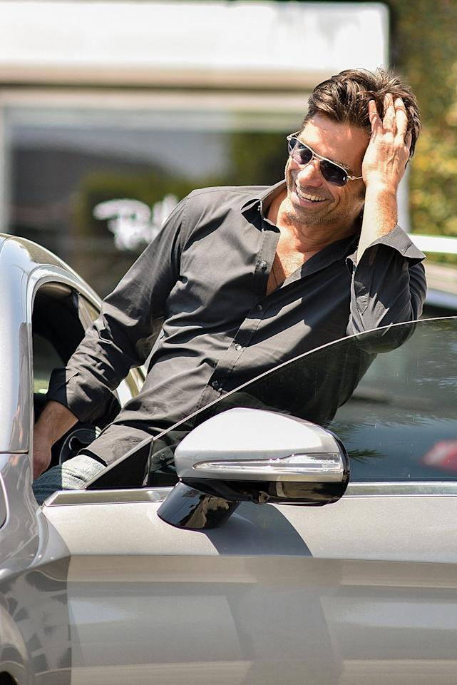 <p>Have mercy! As always, Stamos was cool and collected while out to lunch in West Hollywood. (Photo: PPLF/BACKGRID) </p>