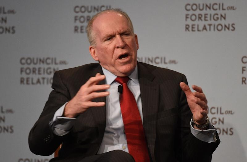 """CIA director John Brennan, pictured in March, gave a staunch defense of the framework nuclear deal with Iran, calling some criticism of the accord """"disingenuous"""" while expressing surprise at Tehran's concessions (AFP Photo/Don Emmert)"""