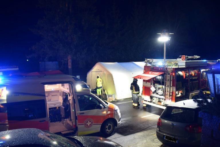 Two of the injured who were in a very serious condition were flown by helicopter to a hospital in Innsbruck in Austria