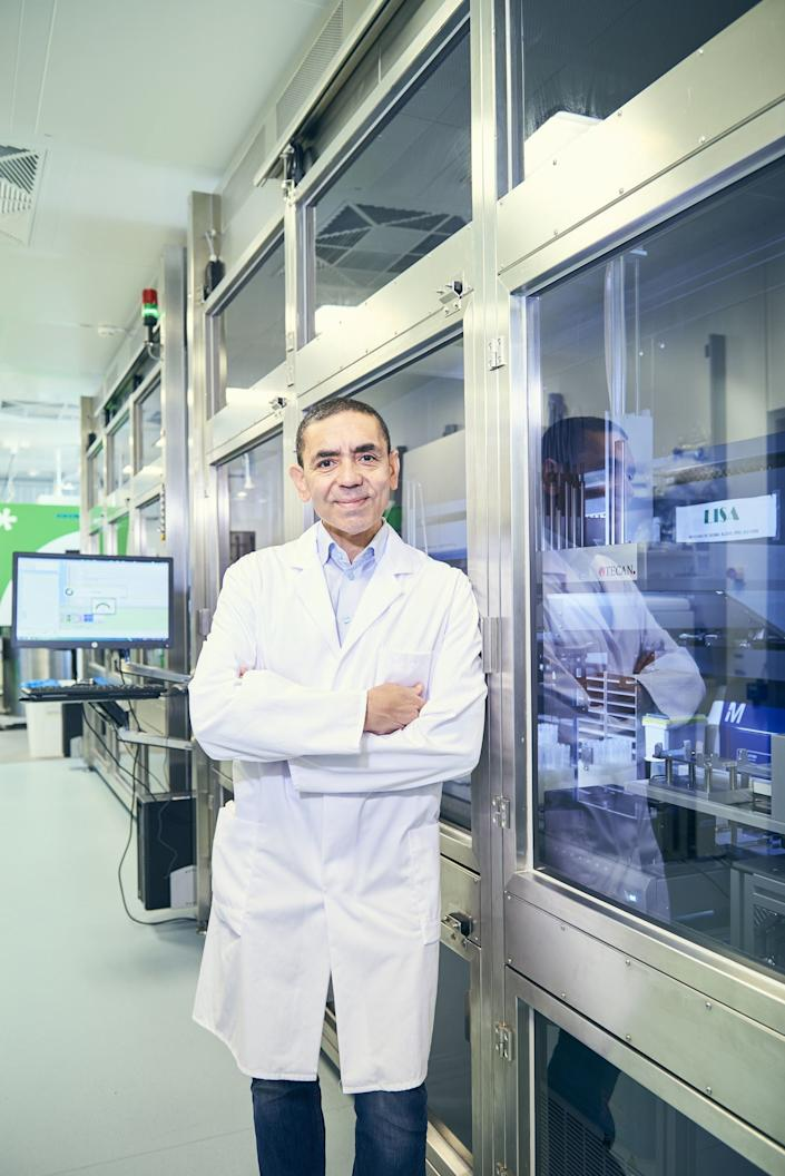 <p>Ugur Sahin, one half of the husband and wife 'dream team' behind the breakthrough Covid-19 vaccine that will soon be rolled out across the UK</p>PA