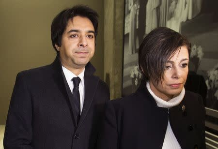 Jian Ghomeshi, a former celebrity radio host who has been charged with multiple counts of sexual assault, arrives at court alongside his lawyer Marie Henein (R) in Toronto, January 8, 2015. REUTERS/Mark Blinch
