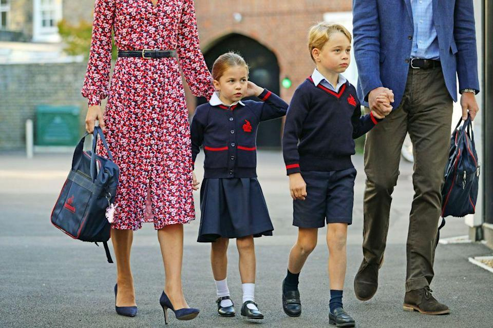 """<p>While Queen Elizabeth and royal children before her were privately educated by tutors, beginning with Prince Charles all of the royal children have attended schools for their educations. A couple years ago, <a href=""""https://www.goodhousekeeping.com/uk/news/a27582782/princess-charlotte-school-thomas-battersea/"""" rel=""""nofollow noopener"""" target=""""_blank"""" data-ylk=""""slk:Princess Charlotte joined her big brother"""" class=""""link rapid-noclick-resp"""">Princess Charlotte joined her big brother</a> at Thomas's Battersea. </p>"""