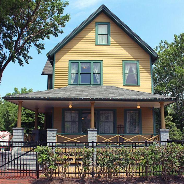"""<p>Nothing says Christmas spirit like (re)watching<em> A Christmas Story </em>on repeat, but now you can take your love of the movie to the next level. Not only can you go visit the house from the movie, but you can actually <em><a href=""""http://www.achristmasstoryhouse.com/"""" rel=""""nofollow noopener"""" target=""""_blank"""" data-ylk=""""slk:stay overnight"""" class=""""link rapid-noclick-resp"""">stay overnight</a></em> in it—AND you could stay in Ralphie's room! It's just like an Airbnb but tied to an iconic pop culture relic. Plan your trip <a href=""""https://www.tripadvisor.com/Attraction_Review-g50207-d638635-Reviews-A_Christmas_Story_House-Cleveland_Ohio.html"""" rel=""""nofollow noopener"""" target=""""_blank"""" data-ylk=""""slk:here"""" class=""""link rapid-noclick-resp"""">here</a>. <br> </p><p>3159 W 11th St, Cleveland, OH 44109</p>"""