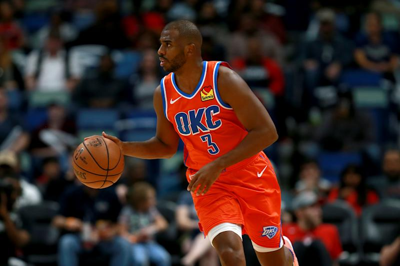 Chris Paul wasn't expecting to be traded to the Thunder, but he's at peace with how it went down and is optimistic about his new situation. (Photo by Sean Gardner/Getty Images)