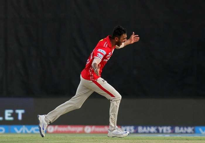 Axar Patel gave away just 12 runs in 4 overs to win the Player of the Match award. KXIP's left-arm spinner opened the bowling with the new ball. That shows how much Maxwell trusts his frontline spinner. Axar didn't disappoint, registering figures of 4-0-12-1. He got Shane Watson in his very first over as the latter chopped a ball onto his stumps.Patel returned again to bowl three tight overs on the trot in the 11th, 13th and 15th. His spell ensured RCB never got away despite having two set batsmen at one stage. It is also the pressure created by his bowling that led Mandeep to try and attack Varun Aaron, losing his wicket in the process.On a pitch that was slightly difficult to bat on, Axar didn't experiment too much and just bowled a steady line, a little flatter at a teasing length. AB de Villiers hit nine sixes in the innings and eight of them came after Patel finished his spell, showing how admirable the latter's control was. It comes as no surprise that Patel was the Player of the Match.