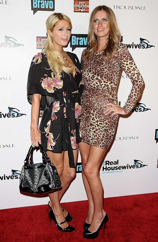 "Paris and Nicky Hilton strutted their stuff at ""The Real Housewives of Beverly Hills"" premiere party at Trousdale in West Hollywood, California, on Monday night. The hotel heiresses came out to support their aunts, Kim and Kyle Richards, who star in Bravo's new reality series. Jason LaVeris/<a href=""http://filmmagic.com/"" target=""new"">FilmMagic.com</a> - October 11, 2010"