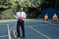 <p>The White House tennis court was first built in 1902, and was moved to another location during Taft's renovation of the West Wing. </p> <p>The court was altered again when President Barack Obama came into office, modifying it to allow for basketball as well as tennis. </p>