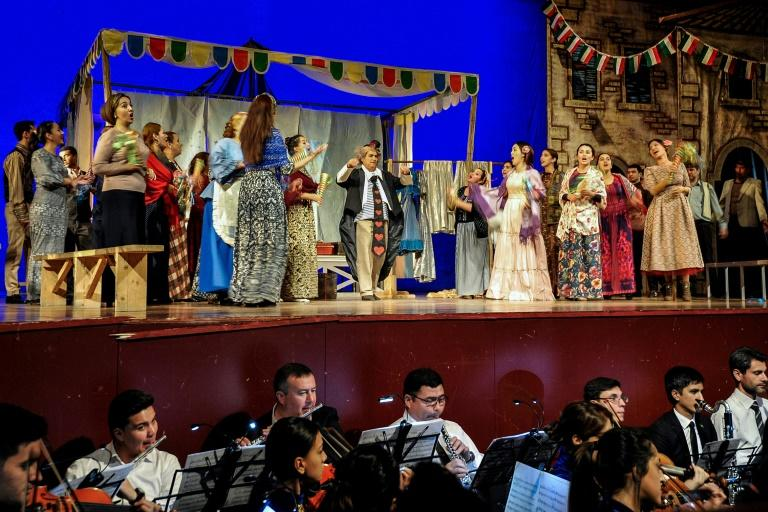Most of the roles were played by Turkmen singers (AFP Photo/Igor SASIN)