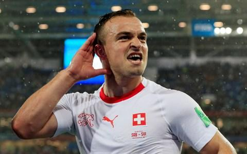 Xherdan Shaqiri's celebration is full of passion - Credit: reuters
