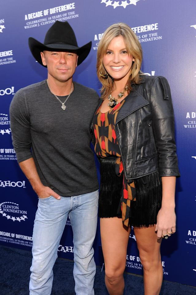"Kenny Chesney and Grace Potter arrive at the ""A Decade of Difference"" concert on October 15, 2011, at the Hollywood Bowl, Los Angeles. <br><br>(Photo by Kevin Mazur/Getty Images for Control Room)"