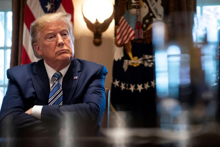 The House of Representatives voted to join the Senate in support of a resolution that bars US President Donald Trump from any military action against Iran without an explicit vote from Congress (AFP Photo/Brendan Smialowski)