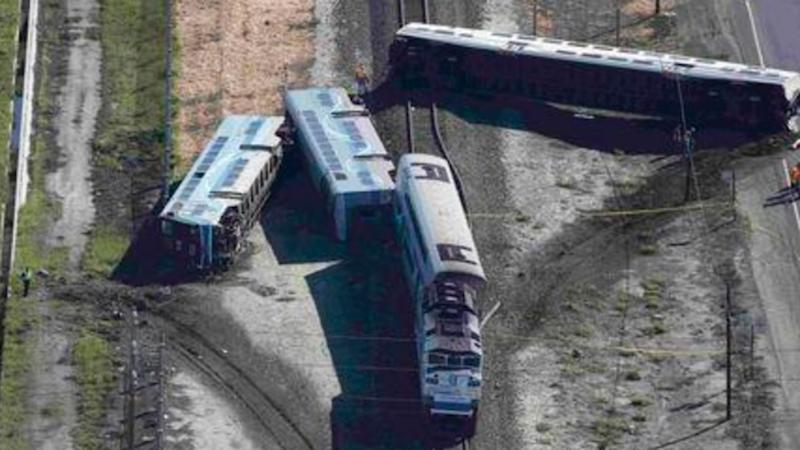 51 people injured after train and truck collide