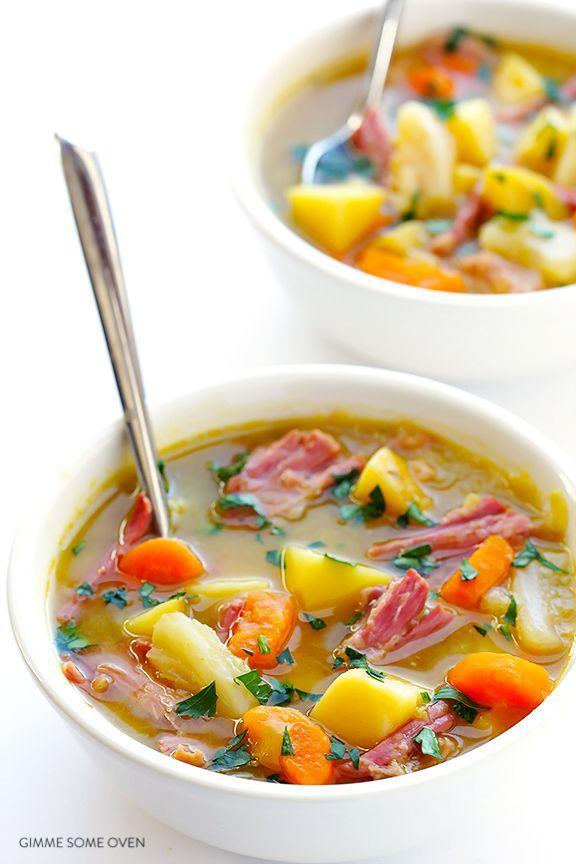 """<p>Lighten up the classic Irish dinner by making it in soup form.</p><p>Get the recipe from <a href=""""http://www.gimmesomeoven.com/slow-cooker-corned-beef-and-cabbage-soup/?utm_source=feedburner&utm_medium=feed&utm_campaign=Feed:+gimmesomeoven+(Gimme+Some+Oven)"""" rel=""""nofollow noopener"""" target=""""_blank"""" data-ylk=""""slk:Gimme Some Oven"""" class=""""link rapid-noclick-resp"""">Gimme Some Oven</a>.</p>"""