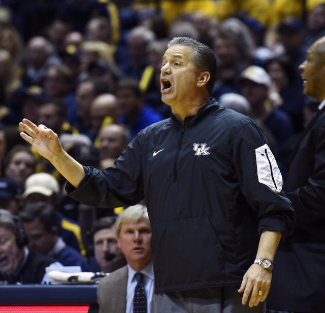 Kentucky coach John Calipari doesn't appear to have a national title contender on his hands this season. (AP)