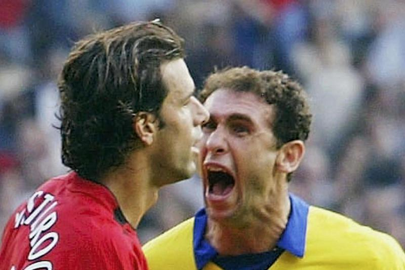 Ugly scenes: Van Nistelrooy and Keown clash in 2003 (Getty Images)