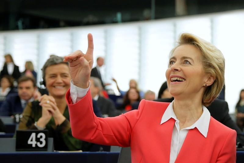 Vote on EU Commission President-elect von der Leyen's college of commissioners at the European Parliament in Strasbourg