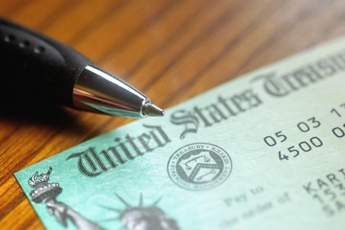 Paper check from the United States Treasury. (Photo: Adobe Stock)