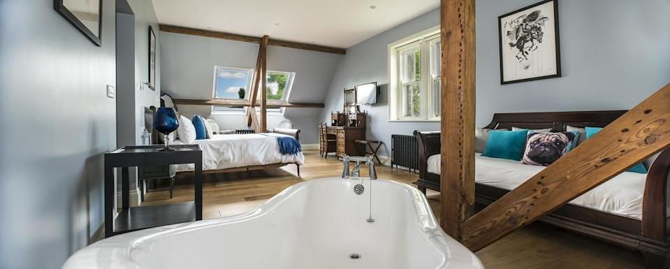 """<p>Take one grand Victorian vicarage and two former advertising executives with an eye for detail and style, and you've got yourself a gorgeous, luxury B&B. <a href=""""https://go.redirectingat.com?id=127X1599956&url=https%3A%2F%2Fwww.booking.com%2Fhotel%2Fgb%2Fstowhouse.en-gb.html%3Faid%3D1922306%26label%3Dluxury-bed-breakfast&sref=https%3A%2F%2Fwww.goodhousekeeping.com%2Fuk%2Flifestyle%2Ftravel%2Fg34889859%2Fluxury-bed-and-breakfast%2F"""" rel=""""nofollow noopener"""" target=""""_blank"""" data-ylk=""""slk:Stow House"""" class=""""link rapid-noclick-resp"""">Stow House</a> is set in two acres of stunning North Yorkshire countryside, and is just a five-minute walk from the breathtaking Aysgarth Waterfalls on the River Ure. </p><p>Interiors are super-chic with a mix of vintage furniture and modern art for a cool aesthetic. We love the roomy bedrooms with rolltop bath tubs and French beds. Dogs are welcome and the owners will happily highlight lovely local walks. There'll be a cocktail waiting to be ordered on your return...</p><p><a href=""""https://www.goodhousekeepingholidays.com/offers/yorkshire-aysgarth-stow-house-hotel"""" rel=""""nofollow noopener"""" target=""""_blank"""" data-ylk=""""slk:Read our review of Stow House."""" class=""""link rapid-noclick-resp"""">Read our review of Stow House.</a></p><p><a class=""""link rapid-noclick-resp"""" href=""""https://go.redirectingat.com?id=127X1599956&url=https%3A%2F%2Fwww.booking.com%2Fhotel%2Fgb%2Fstowhouse.en-gb.html%3Faid%3D1922306%26label%3Dluxury-bed-breakfast&sref=https%3A%2F%2Fwww.goodhousekeeping.com%2Fuk%2Flifestyle%2Ftravel%2Fg34889859%2Fluxury-bed-and-breakfast%2F"""" rel=""""nofollow noopener"""" target=""""_blank"""" data-ylk=""""slk:CHECK AVAILABILITY"""">CHECK AVAILABILITY</a></p>"""