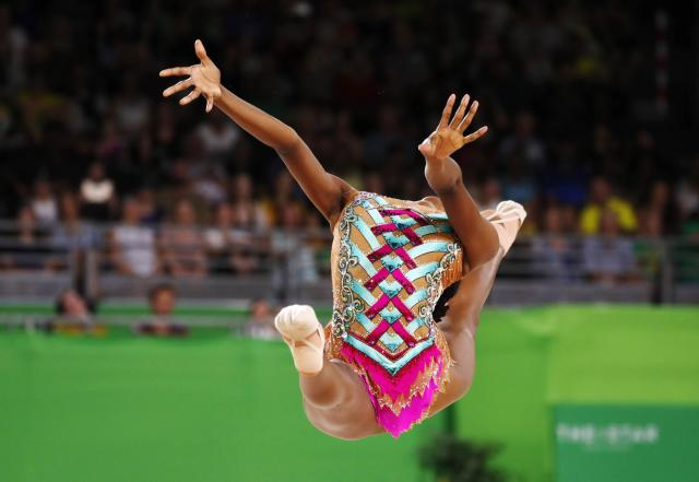 Rhythmic Gymnastics - Gold Coast 2018 Commonwealth Games - Individual Ball Final - Coomera Indoor Sports Centre - Gold Coast, Australia - April 13, 2018. Grace Legote of South Africa. REUTERS/David Gray