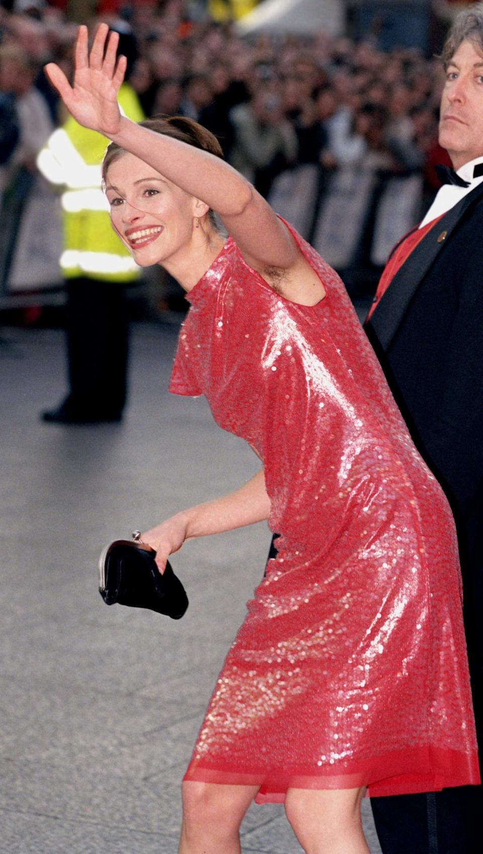 Julia Roberts attends the world premiere of Notting Hill in 1999UK Press via Getty Images