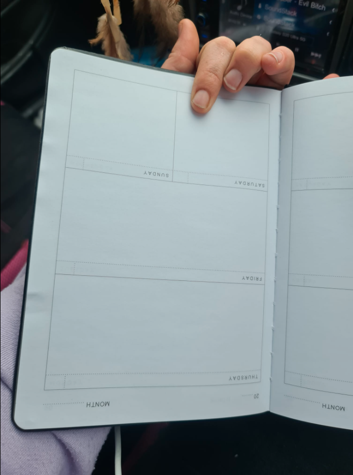 Upside down diary from Kmart