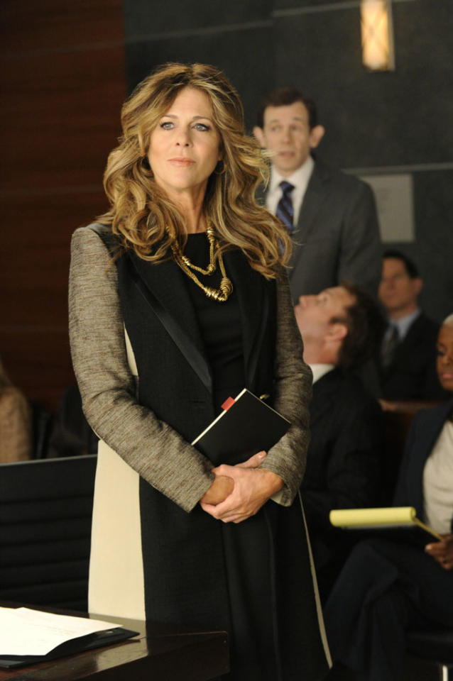 """Rita Wilson as Viola Walsh, who represents an internet search engine against a lawsuit by one of the firm's clients in """"Two Girls, One Code,"""" the third episode of """"The Good Wife"""" Season 4."""