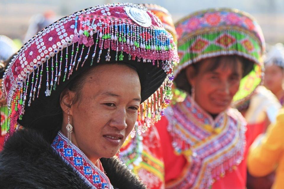 Women in traditional Miao attire. There is no number for how many people from ethnic minority groups like the Miao and the Buyei are trafficked. Photo: Shutterstock