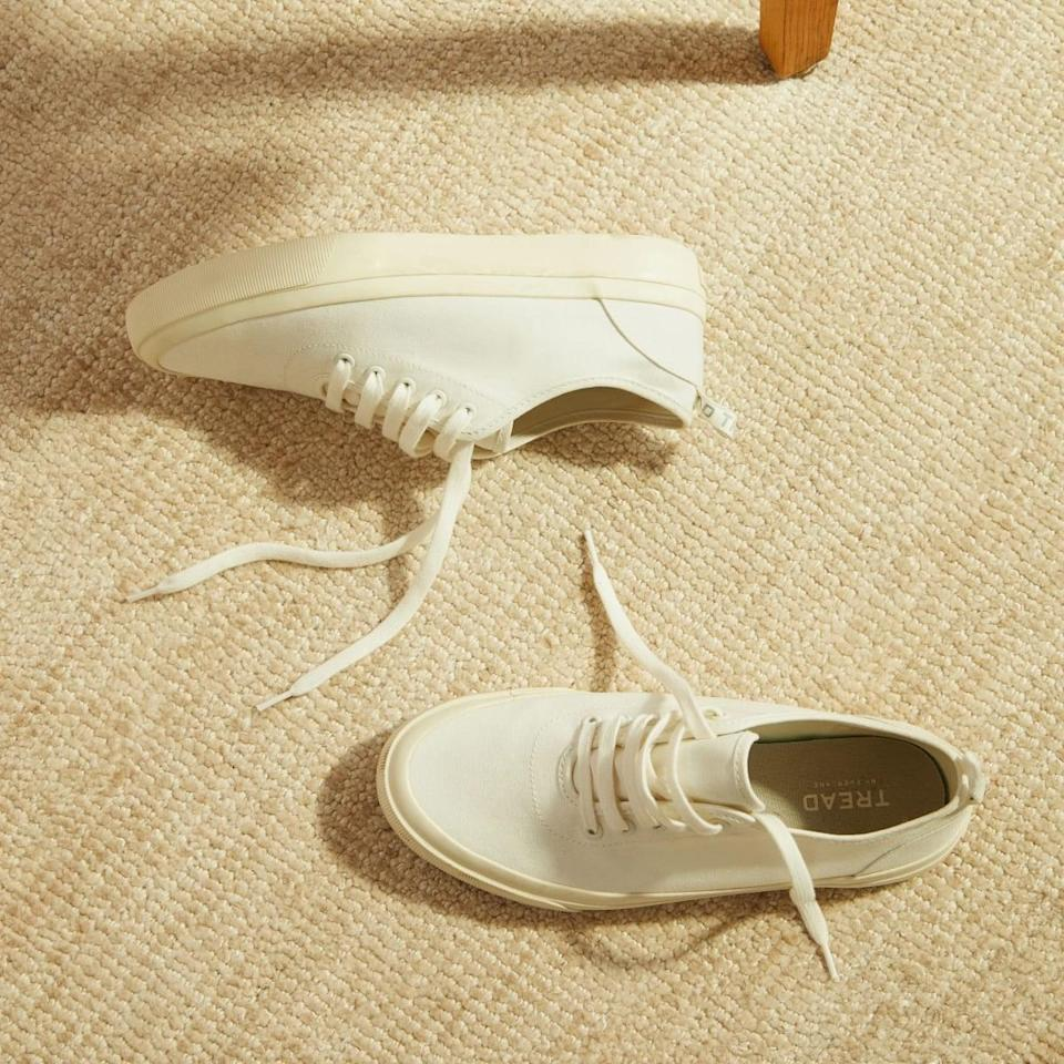 """<p><span>Everlane Forever Sneakers</span> ($65)</p> <p>""""For something truly versatile that goes with everything, these fully recyclable sneakers are the ideal option. Bonus points: these sneakers are machine washable."""" - Macy Cate Williams, senior editor, Shop</p>"""