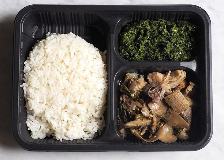 Your bento set is a combination of rice served with your choice of main dish and vegetables.