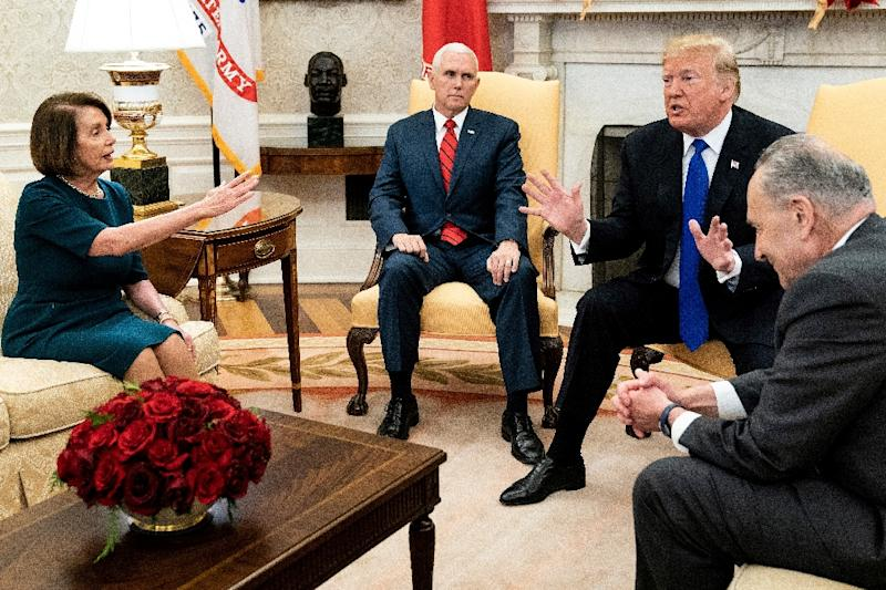 Trump bickers with top Democrats over border wall funding
