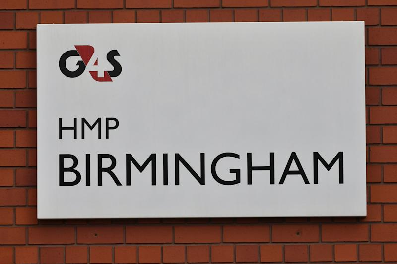 "A G4S sign outside HMP Birmingham, as it emerged the government is taking over the privately-run prison after an inspection uncovered ""appalling"" squalor and violence and found staff asleep or locked in offices."