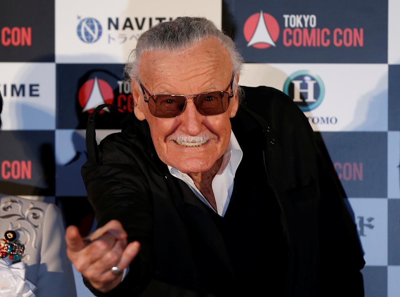 Stan Lee, 93-year-old comic book legend, attends an opening ceremony of Tokyo Comic Con at Makuhari Messe in Chiba, Japan December 2, 2016. REUTERS/Issei Kato