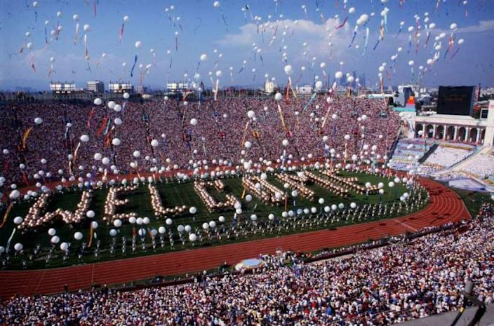 The opening ceremony of the 1984 Olympics at the Los Angeles Memorial Coliseum. Friday is the deadline for organizers of the city's bid for the 2024 Summer Games to submit a second round of material to the International Olympic Committee.