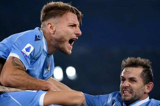 Ciro Immobile has scored 23 goals for Lazio this season (AFP Photo/Filippo MONTEFORTE)