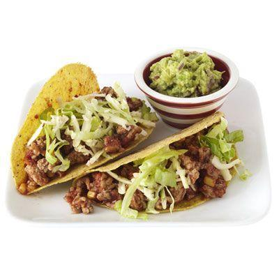 """<p>Give taco night a health boost with this flavorful take on ground beef.</p><p><strong><a href=""""https://www.countryliving.com/food-drinks/recipes/a33401/texas-turkey-tacos-recipe-rbk0612/"""" rel=""""nofollow noopener"""" target=""""_blank"""" data-ylk=""""slk:Get the recipe"""" class=""""link rapid-noclick-resp"""">Get the recipe</a>.</strong></p><p><strong><a class=""""link rapid-noclick-resp"""" href=""""https://www.amazon.com/Utopia-Kitchen-Pre-Seasoned-Cast-Skillet/dp/B00X4WQMAS/?tag=syn-yahoo-20&ascsubtag=%5Bartid%7C10050.g.31929300%5Bsrc%7Cyahoo-us"""" rel=""""nofollow noopener"""" target=""""_blank"""" data-ylk=""""slk:SHOP LARGE SKILLETS"""">SHOP LARGE SKILLETS</a><br></strong></p>"""