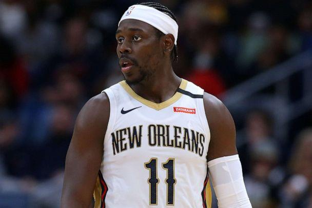 PHOTO: Jrue Holiday #11 of the New Orleans Pelicans reacts against the Los Angeles Lakers, March 01, 2020 in New Orleans. (Jonathan Bachman/Getty Images, FILE)