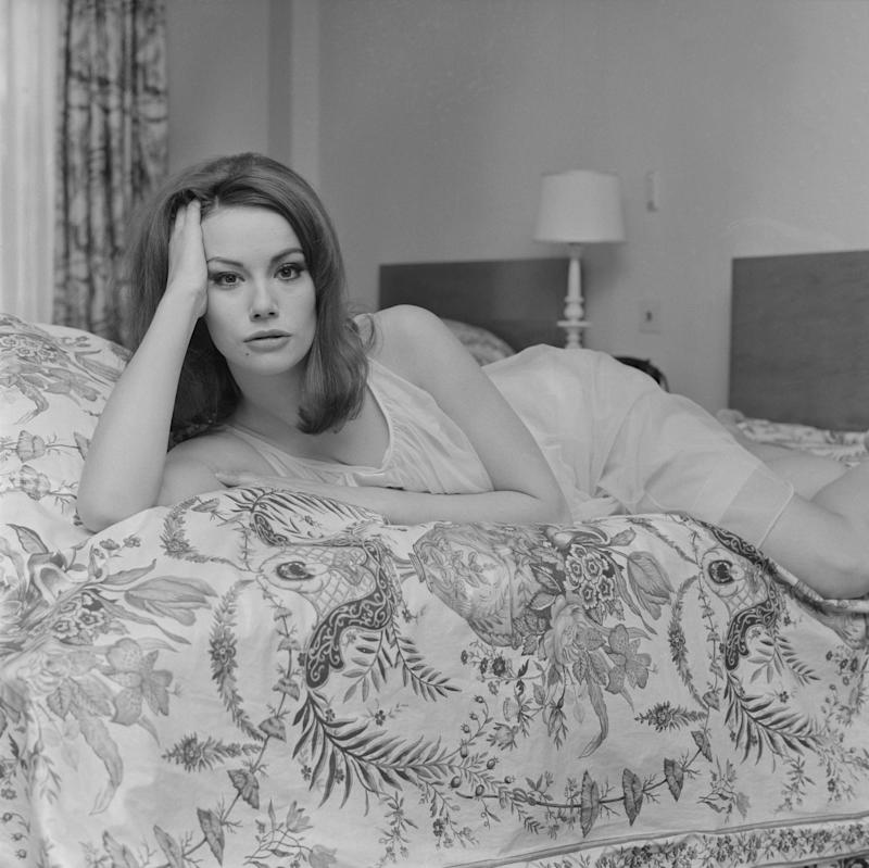 Claudine Auger poses for a photo shoot