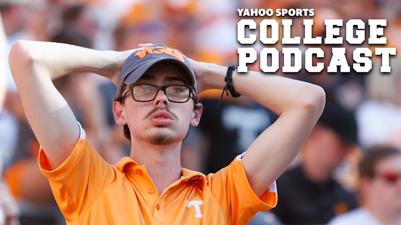 KNOXVILLE, TN - AUGUST 31: A Tennessee Volunteers fan reacts in the stands during a game between the Tennessee Volunteers and Georgia State Panters, August 31, 2019 at Neyland Stadium in Knoxville, Tennessee. (Photo by Matthew Maxey/Icon Sportswire via Getty Images)